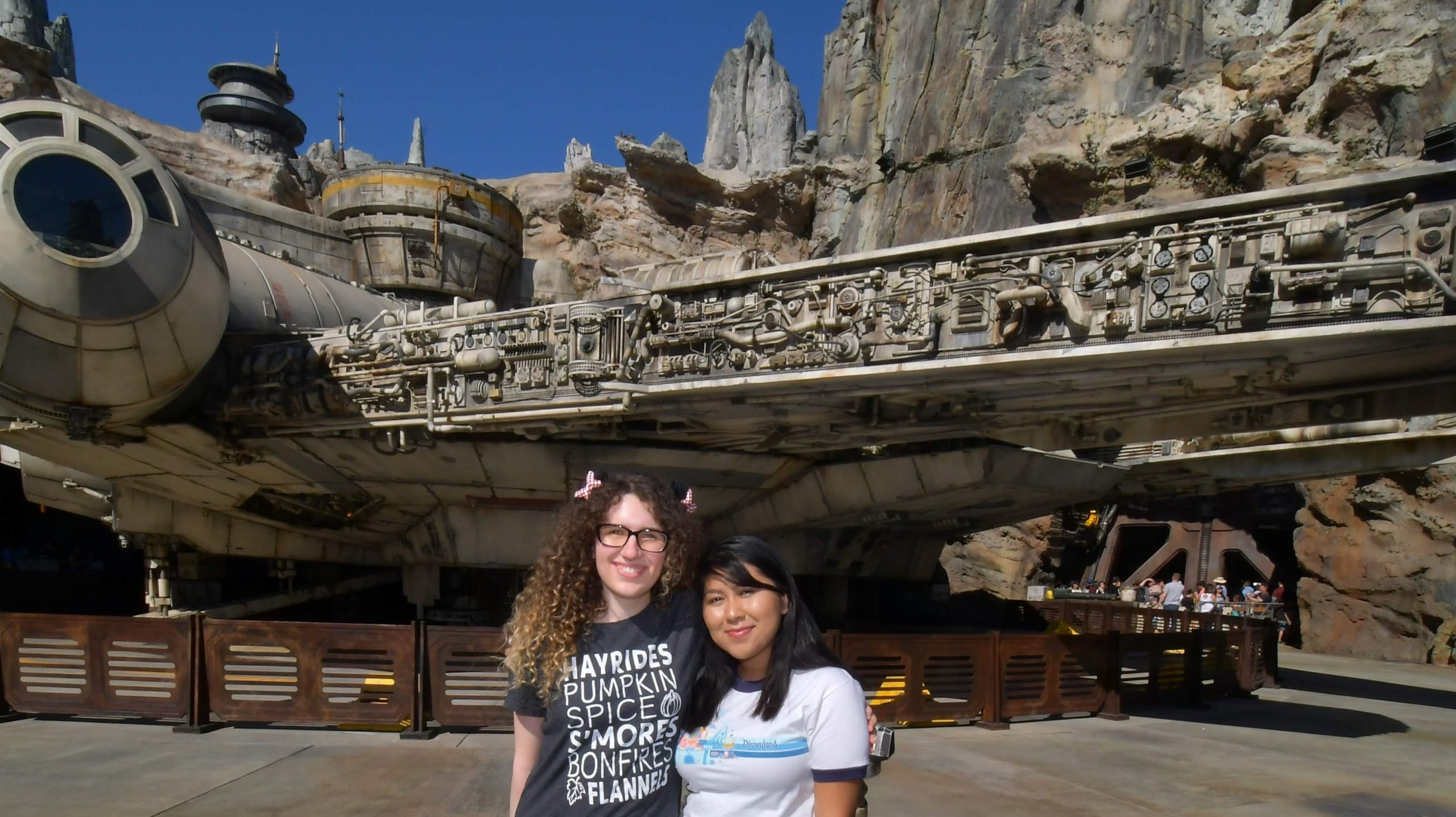 Ally and America and the Millennium Falcon