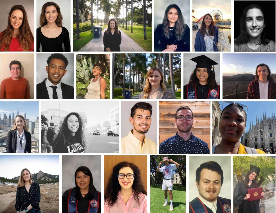 photos of library students graduating spring 2020