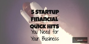 Check out our 5 Startup Financial Quick Hits You Need for Your Business!