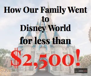 Have you always wanted to take a Walt Disney World vacation but thought you couldn't afford it? Here is how our family of four went to Disney World for less than $2,500!