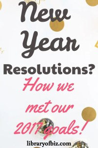 You want to reach your New Years resolution this year. Read this article now to hear how we met our 2017 #resolutions and can help you meet yours! #newyearsresolution #goals #goal #newyear #change