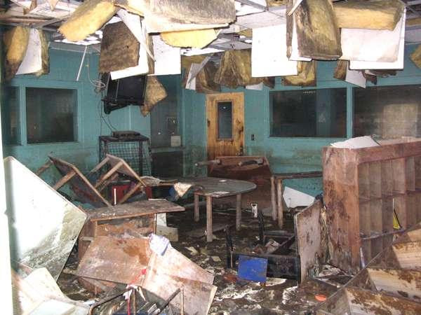 Hurricane Katrina hits Martin Luther King Library (Photo Courtesy of NOPL Rebuild)