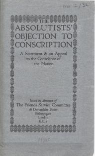The absolutists' objection to conscription