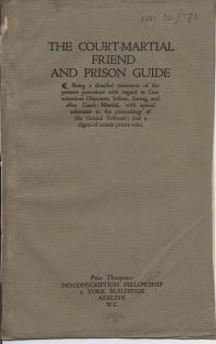 The court-martial friend and prison guide