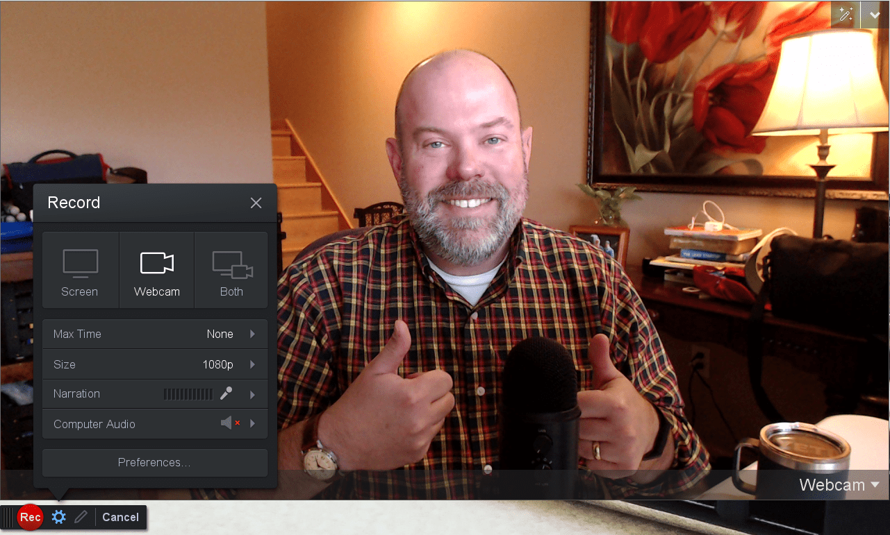the author, Chad, giving two thumbs up for Screencast-o-matice