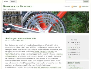 Click to go to my cycling blog