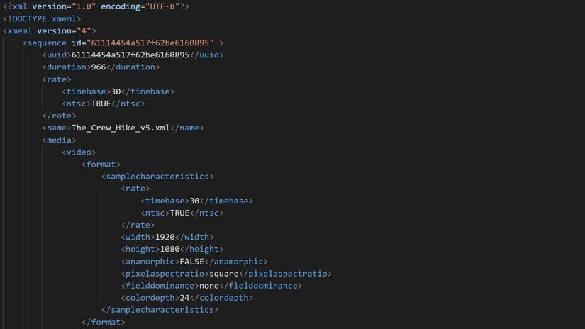 FCP XML export