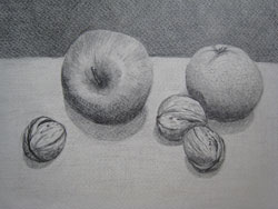 Noix pommes orange