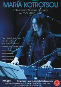 Affiche d'un concert de Maria Kotrotsou