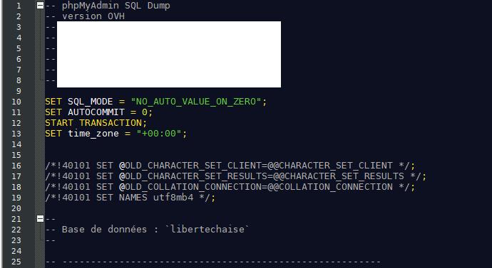 fichier sql avec Notepad++