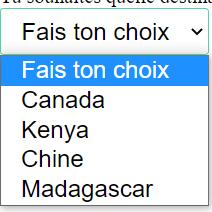 Liste déroulant CSS : plus imposant