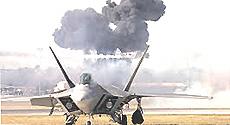Il cacciabombardiere stealth F-22 Raptor