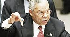 Colin Powell con le false prove contro Saddam