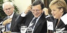 Van Rompuy, Barroso e Merkel