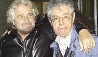 Grillo e Bossi