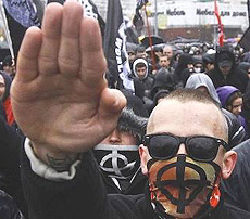 Giovani neonazisti ucraini