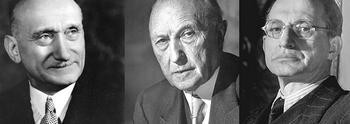 Schuman, Adenauer e De Gasperi