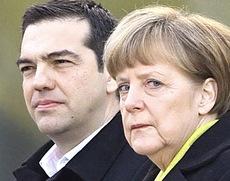 Tsipras e Merkel