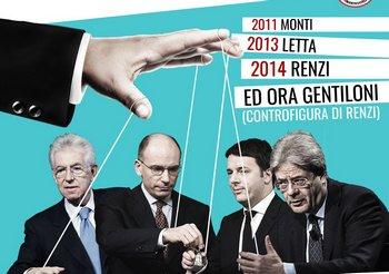 Monti, Letta, Renzi e Gentiloni