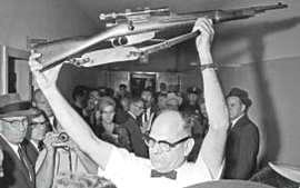 Il fucile Mannlicher Carcano trovato a Oswald
