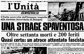 La strage di Bologna su L'Unità