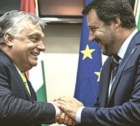 Salvini con Orban