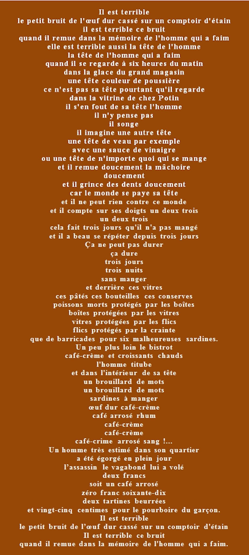 La grasse matinée de Jacques Prévert : texte et analyse