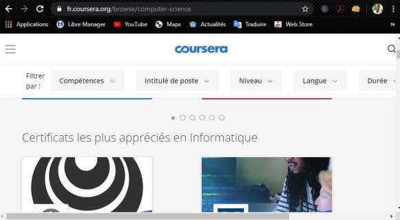 Apprendre en ligne avec Coursera