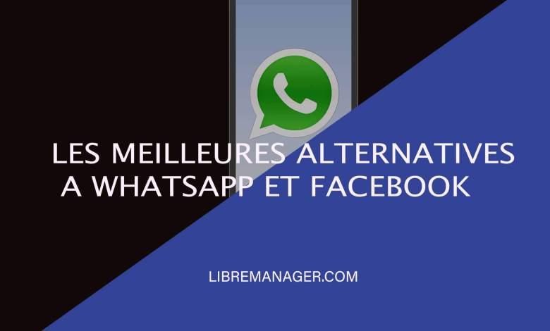 Meilleures alternatives à WhatsApp et Facebook Messenger