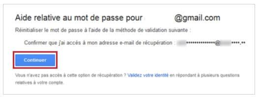 Récupérer le mot de passe d'un compte Gmail en répondant aux questions de Google
