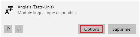 La langue de Windows 2021