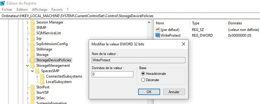 Débloquer une clé USB protégée