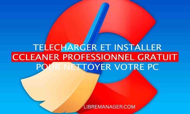 Télécharger CCleaner professionnel