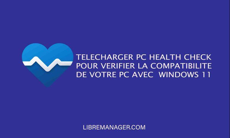 PC Health Check sur Libre Manager
