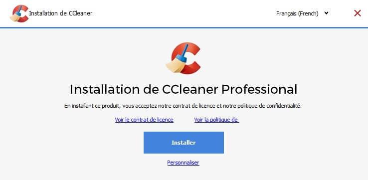 Télécharger CCleaner professionnel sur Windows