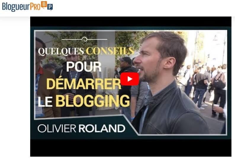 Apprendre le blogging avec Olivier Roland