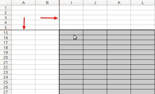 How to Freeze and Unfreeze Rows columns and ranges in Calc