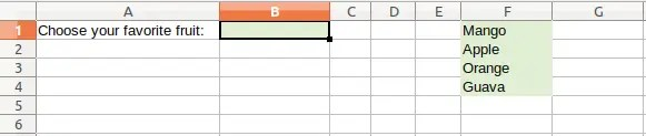 Data Validation from List - Source