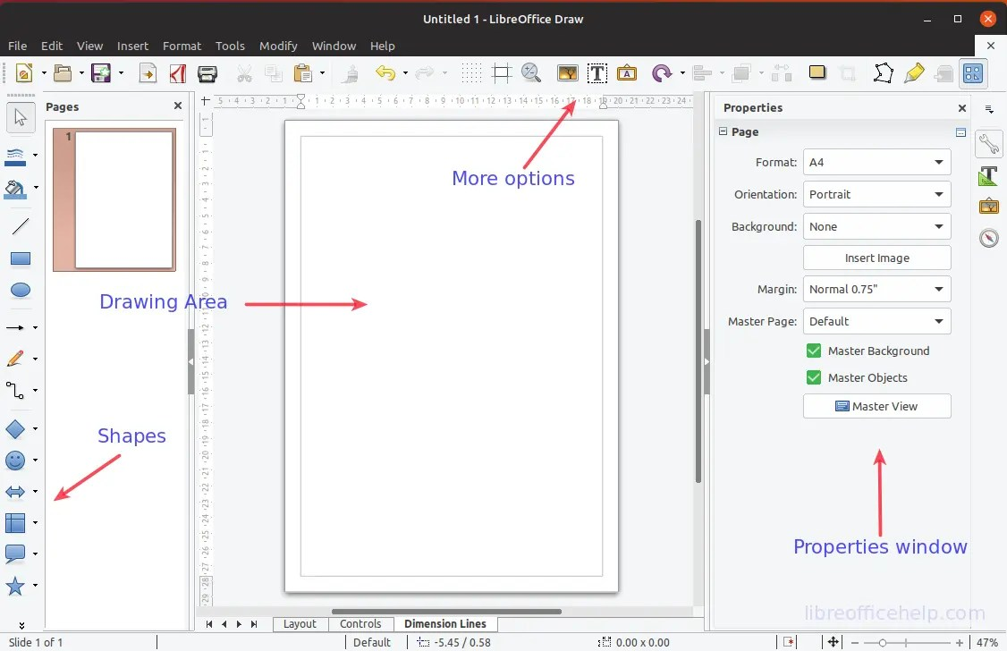 Create Your First Drawing Using Libreoffice Draw Libreofficehelp Com