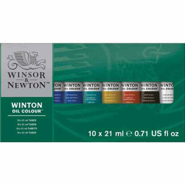 SET OLEOS WINTON 10 TUBOS X 21ML - WINSOR & NEWTON