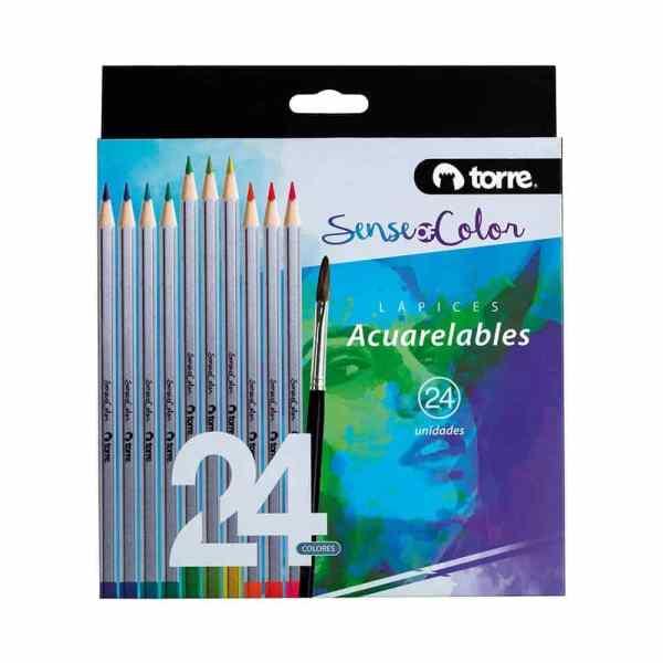 Sence Of Color Acuarelable, set de 24 colores marca Torre.