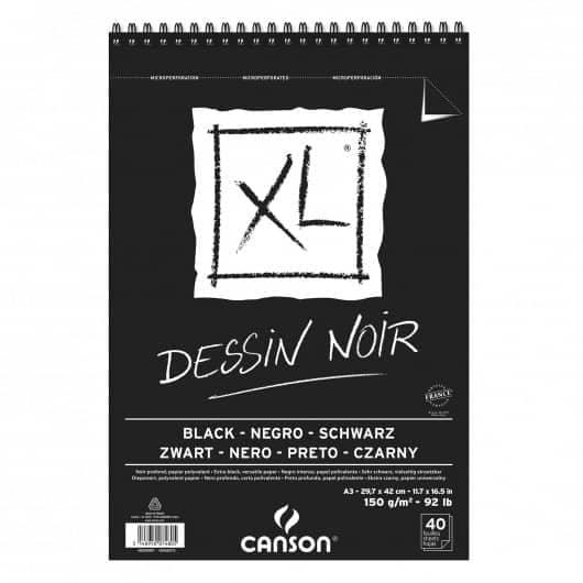 CROQUERA BLACK XL CANSON A3 - PAPEL NEGRO DESSIN NOIR – TAMAÑO A3