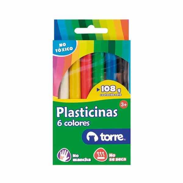 PLASTICINA 6 COLORES TORRE IMAGIA 25539