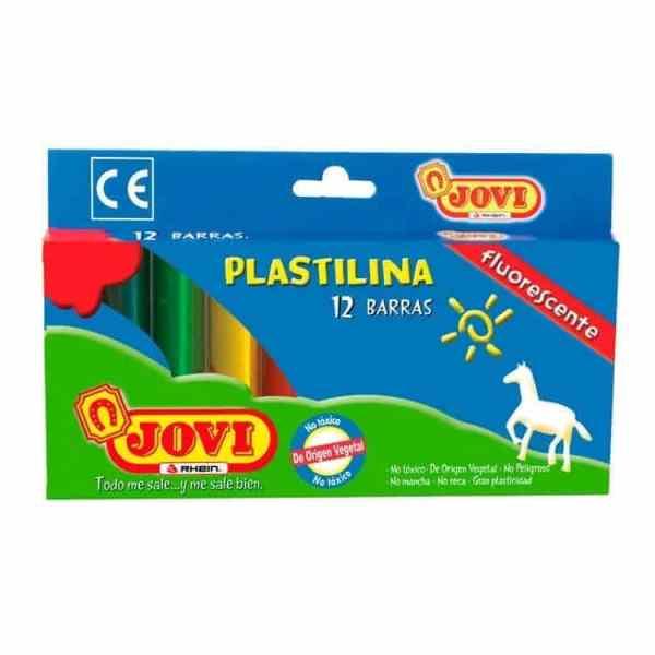 PLASTICINA FLUORESCENTE 12 COLORES TRIANGULAR JOVI