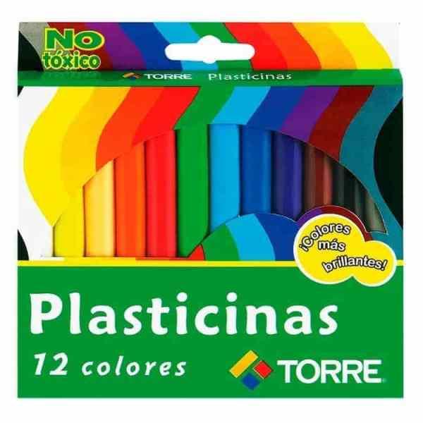 PLASTICINA 12 COLOLORES TORRE IMAGIA 25540