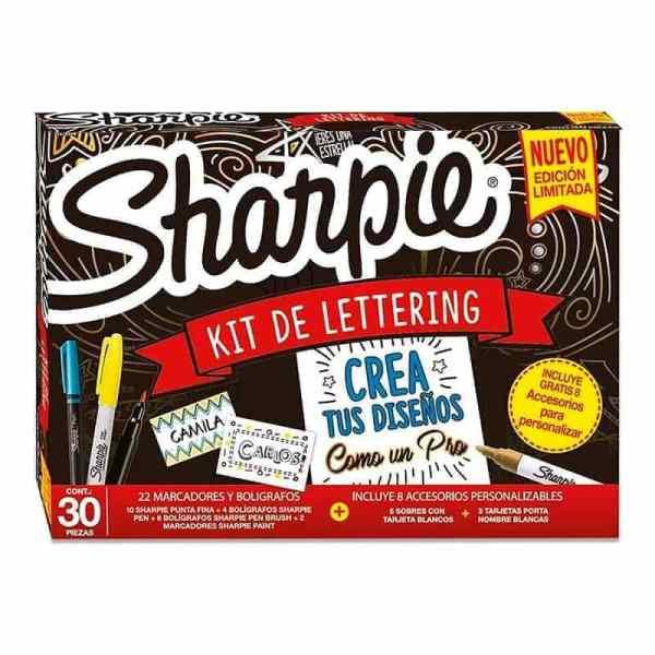 kit lettering sharpie 30 piezas