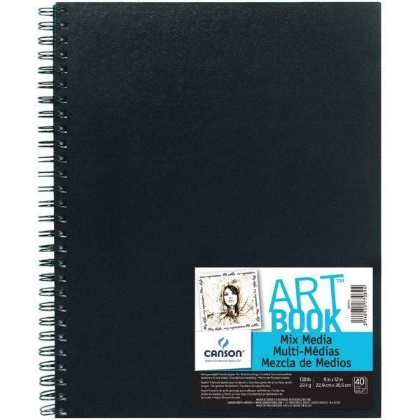 art book mix media 9in