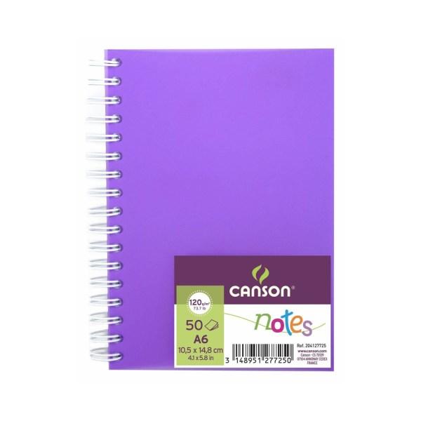 canson notes a6 morado