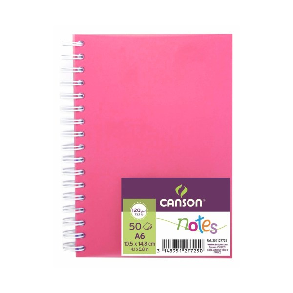 canson notes a6 rosa
