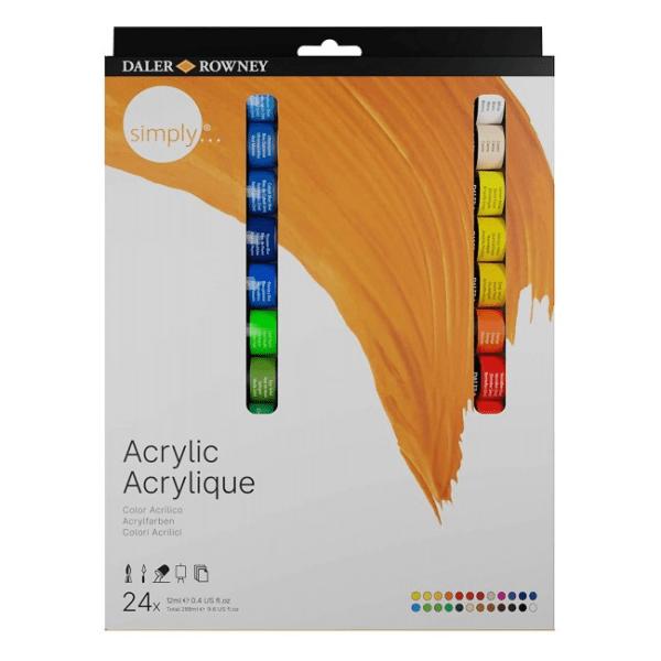 acrilicos 24 colores